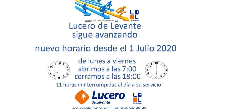 2020-7-1 nuevo hoaraio Lucero de Levante
