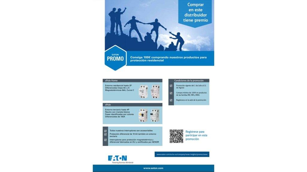Con EATON, participa en el sorteo de cheques regalo de 100€ por la compra de interruptores magnetotérmicos y diferenciales xPole y xPole home