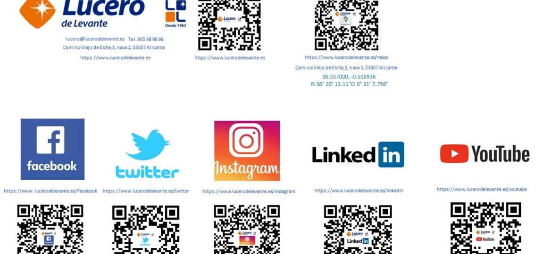 redes sociales con qr