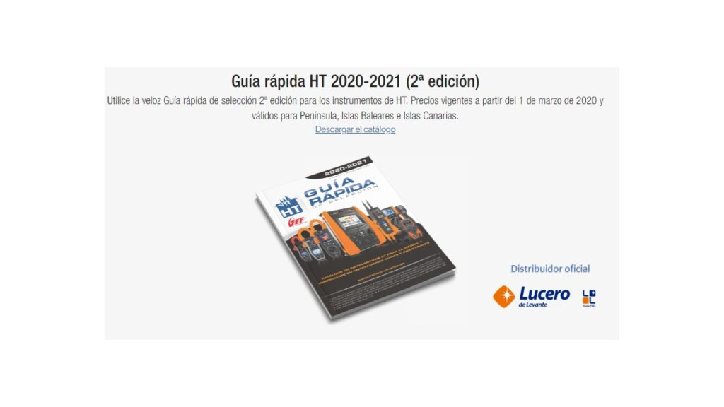 Guía rápida de HTINSTRUMENTS 2020-2021 2 EDICION