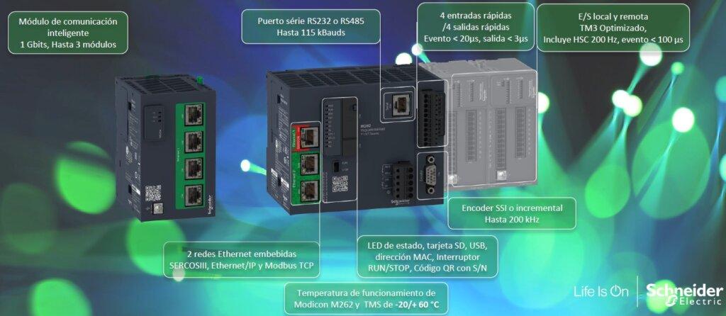 PLC 262  DE SCHNEIDER ELECTRIC CUBRE TODAS LAS NECESIDADES